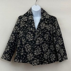 Josephine Vintage Black & Gray Blazer Size 4P V-27